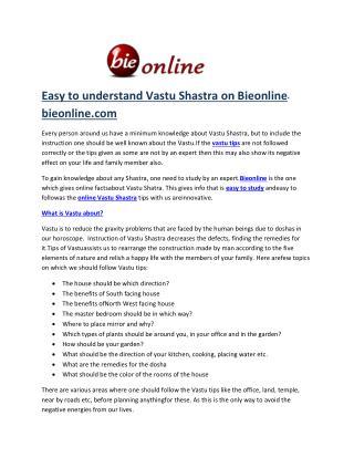 Bieonline Vastu sastra online tips for office-bieonline.com