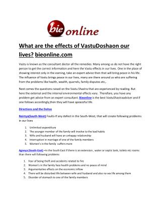Online vastu sastra at bieonline-bieonline.com