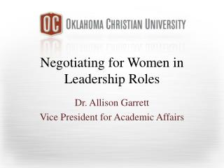 Negotiating for Women in Leadership Roles