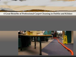 4 Great Benefits of Professional Carpet Cleaning in Dublin and Kildare