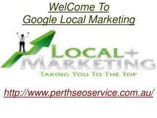 Google Local SEO | Local Listing Services Perth | Google Marketing