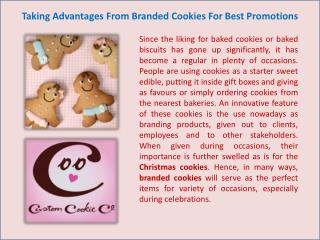Taking Advantages From Branded Cookies For Best Promotions