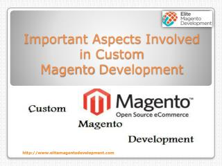 Important Aspects Involved in Custom Magento Development