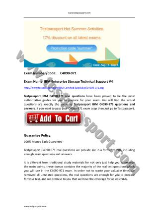 Testpassport C4090-971 exam dumps IBM Certified Specialist