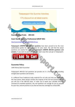 Testpassport JN0-633 exam dumps Juniper JNCIP
