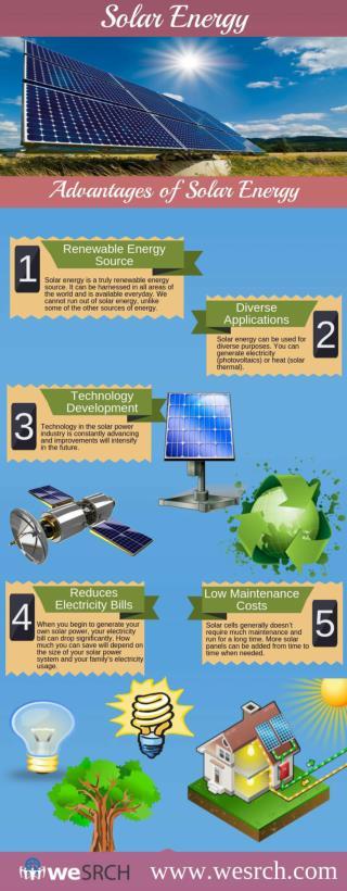 Top 5 Advantages of Solar Energy