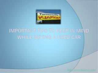 Important tips to keep in mind while buying a used car