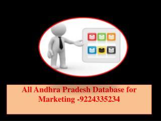 All Andhra Pradesh Database for Marketing -9224335234