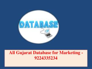 All Gujarat Database for Marketing -9224335234