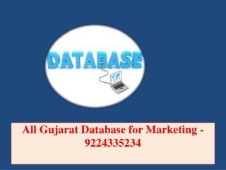 All Gujarat Database for Marketing -9224335234