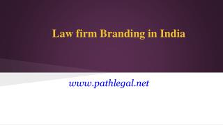 Law firm Branding in India