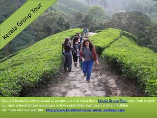 Awesome Kerala Group Tour Packages