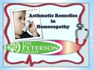 Asthmatic Remedies in Homoeopathy