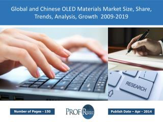 Global and Chinese OLED Materials Market Size, Share, Trends, Analysis, Growth  2009-2019