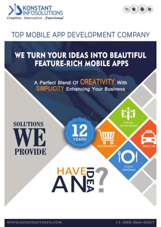 Enterprise Mobile Application Development Services - Konstantinfo