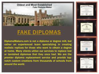Fake Diploma