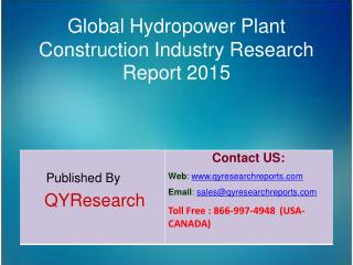 Global Hydropower Plant Construction Market 2015 Industry Growth, Insights, Shares, Analysis, Research, Trends, Forecast