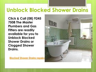 Blocked Showers Drain Repair