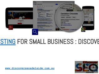 Google Local Listing For Small Business : Discover SEO Adelaide