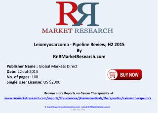 Leiomyosarcoma Pipeline Therapeutics Assessment Review H2 2015