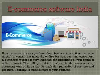E-commerce software India