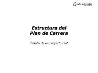 Estructura del  Plan de Carrera