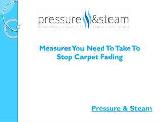 Measures You Need To Take To Stop Carpet Fading