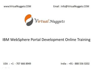 IBM WebSphere Portal Server Administration Online Training at VirtualNuggets