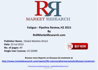 Fatigue Pipeline Companies and Drugs Review H2 2015