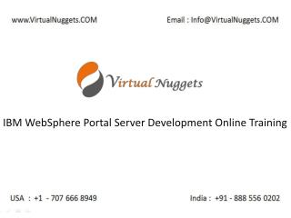 IBM WebSphere Portal Server Development Online Training at VirtualNuggets