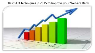 Best SEO Techniques in 2015 to Improve your Website Rank