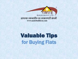 Valuable Tips for Buying Flats