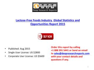 Lactose-Free Foods Market Global  Analysis, Trends and 2020 Forecasts