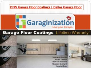 DFW Garage Floor Coatings | Dallas Garage Floor