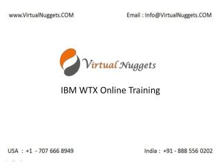 IBM WebSphere Transformer Extender | WTX Online Training by VirtualNuggets