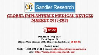 Global Implantable Medical Devices Market Growth to 2019 Forecasts and Analysis Report