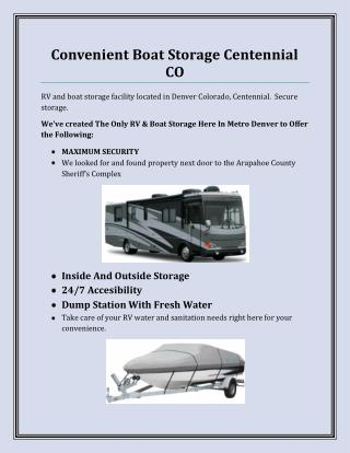 Convenient Boat Storage Centennial CO