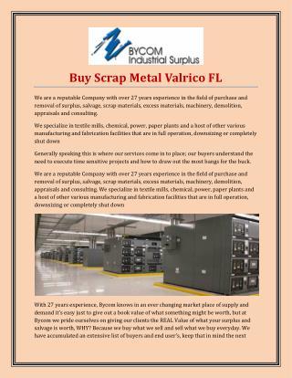 Buy Scrap Metal Valrico FL