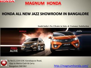 Book Your Perfect Family Honda All new Jazz Car - Magnum Honda