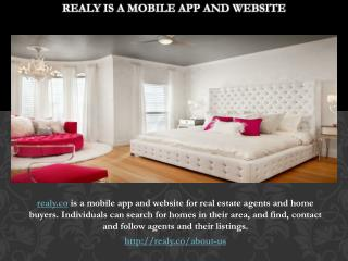 Realy is a mobile app and website