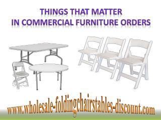 Things That Matter in Commercial Furniture Orders