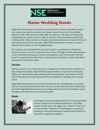Maine Wedding Bands