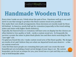 Handmade Wooden Urns