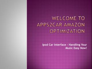 Ipod Car Interface – Handling Your Music Easy Now!