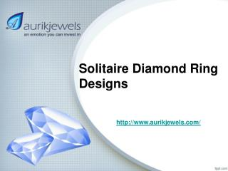 Solitaire Ring Designs For Women