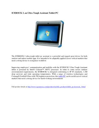 The Ice Rock  3 - Tablet PC by ICP America