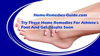 Try These Home Remedies For Athlete's Foot And Get Results Soon