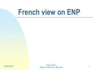 French view on ENP