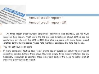 annual credit report @ creditreportcheckscore.co.uk