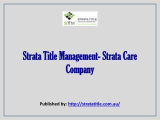 Strata Care Company